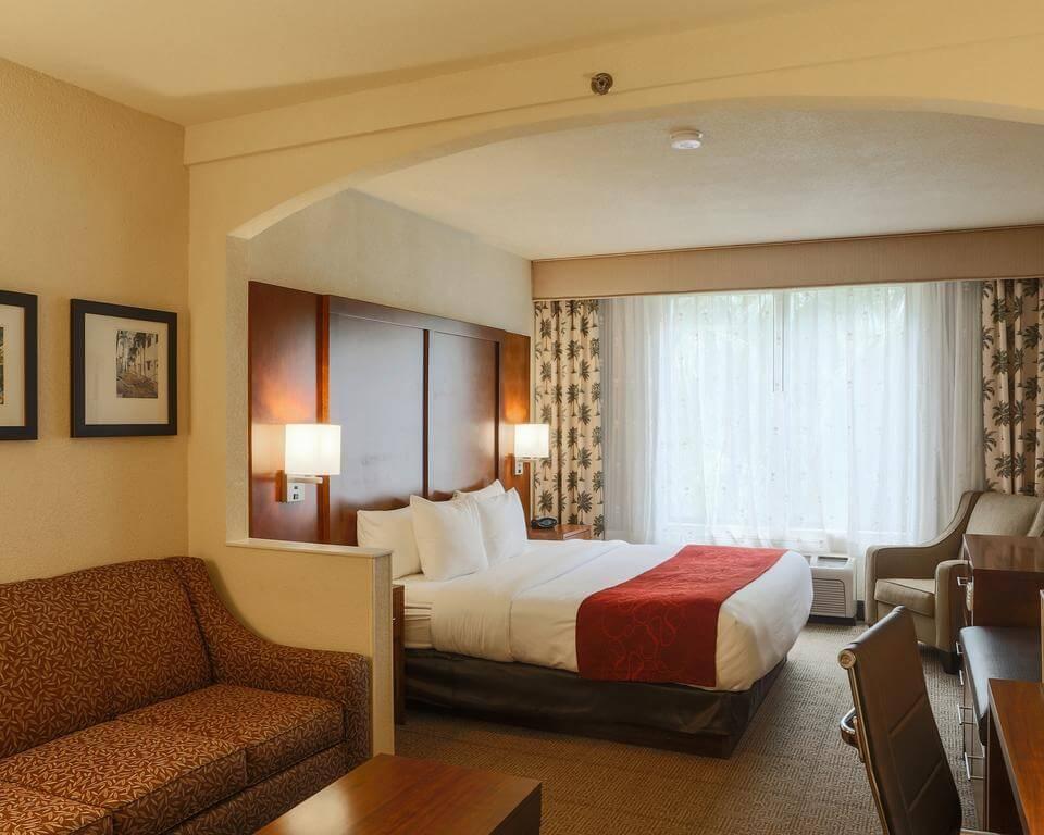 Hotéis bons e baratos em Miami: Hotel Comfort Suites Miami - quarto
