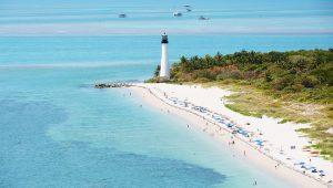 Praias em Miami: Key Biscayne