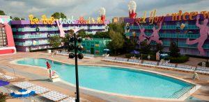 Hotel Pop Century da Disney em Orlando: piscina do hotel