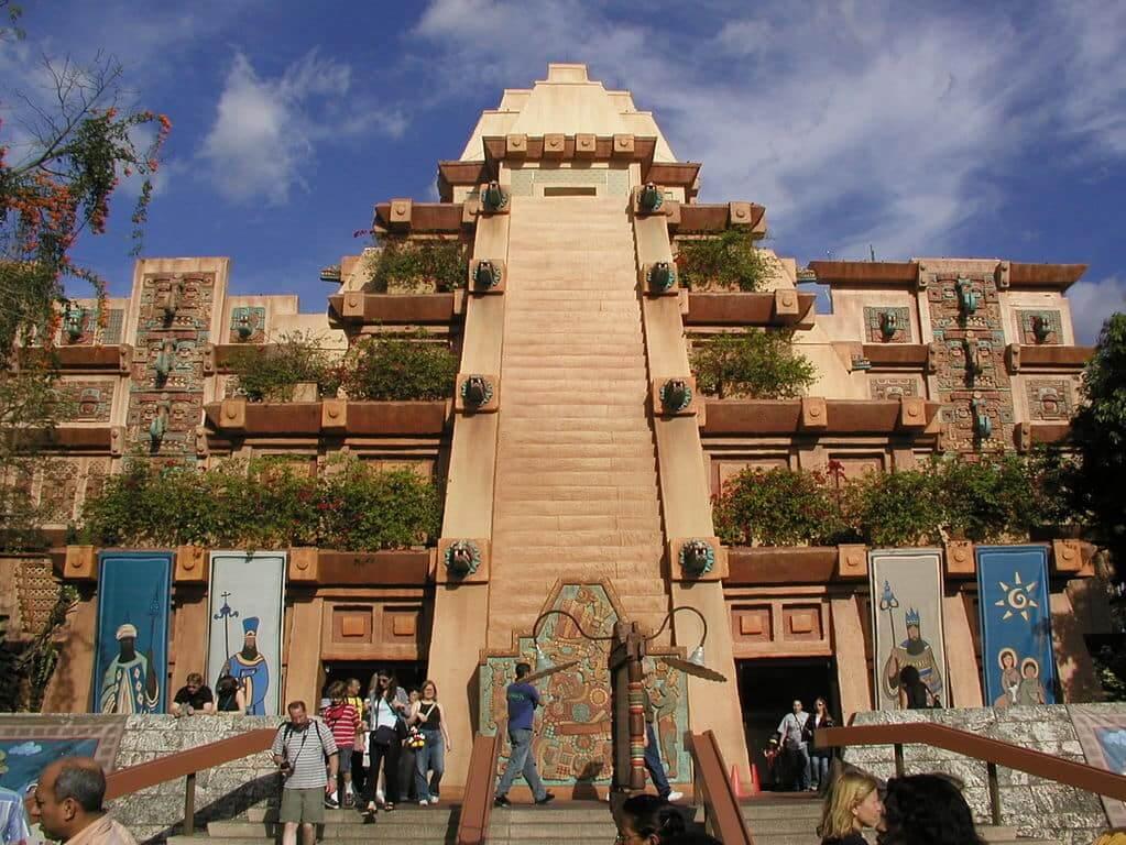 Pavilhão e área do México no Disney Epcot em Orlando