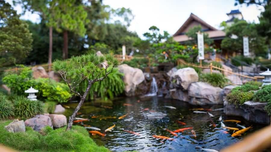 Pavilhão e área do Japão no Disney Epcot em Orlando: atrações