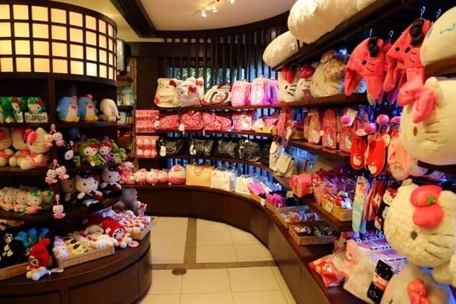 Pavilhão e área do Japão no Disney Epcot em Orlando: lojas