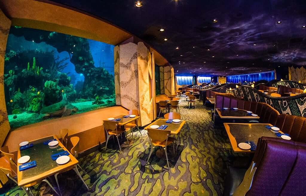 Onde comer com crianças na Disney e Orlando: Coral Reef Restaurant