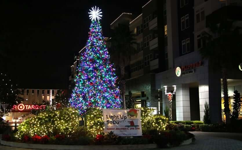 Natal em Downtown Orlando: Light Up SoDo