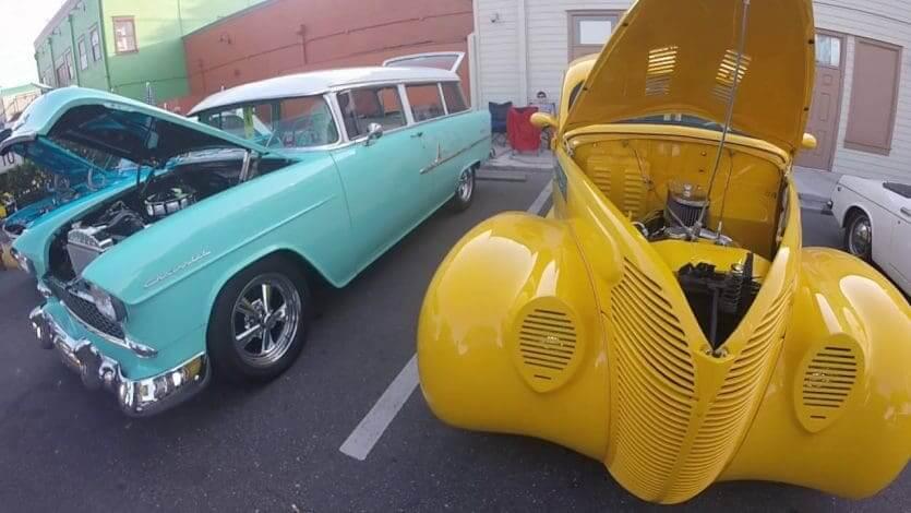 Classic Car Show em Old Town: alguns dos modelos expostos