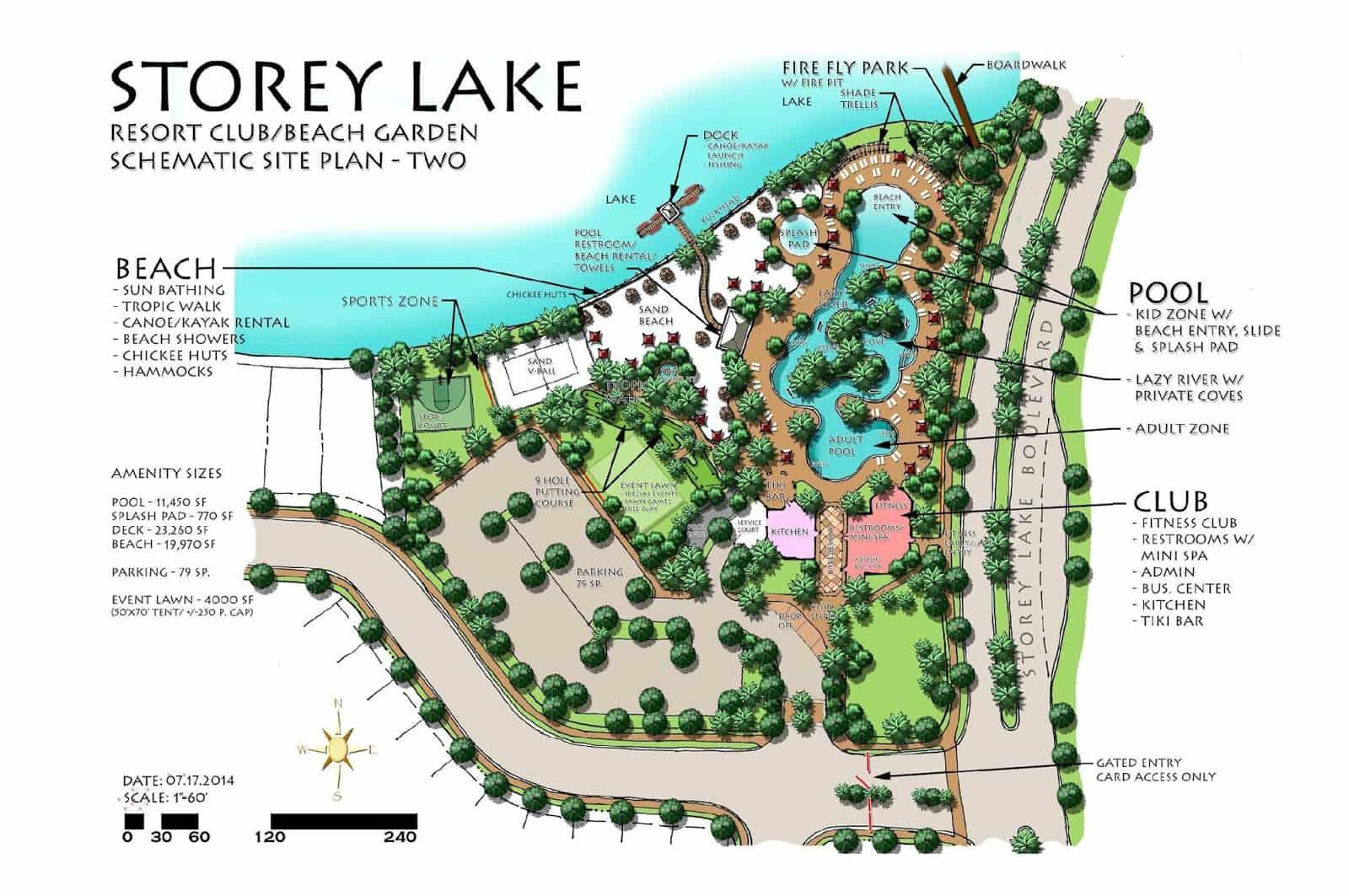 Condomínio de casas Storey Lake Resort em Orlando: mapa