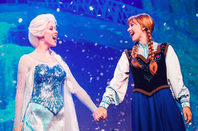 Área do Frozen no Parque Disney Epcot Orlando