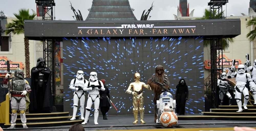 Shows, paradas e apresentações no parque Disney Hollywood Studios Orlando: Star Wars: A Galaxy Far, Far Away