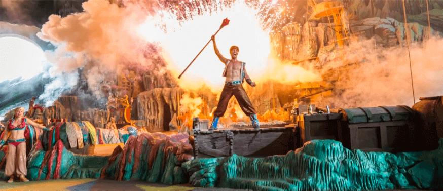 Shows, paradas e apresentações no parque Islands of Adventure em Orlando: The Eighth Voyage of Sindbad