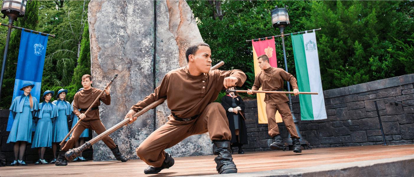 Shows, paradas e apresentações no parque Islands of Adventure em Orlando: Triwizard Spirit Rally