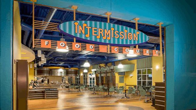 Hotel Disney All-Star Music em Orlando: praça de alimentação Intermission