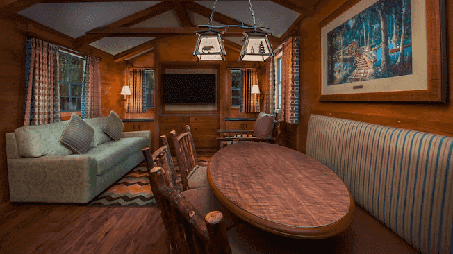 The Campsites e Cabins no Disney's Fort Wilderness Resort: Cabana - sala de estar