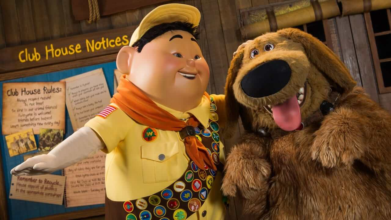 Novo show de Up! no Disney Animal Kingdom: Russell e Doug