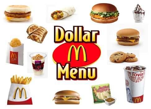 Onde comer McDonald's em Orlando: Dollar Menu