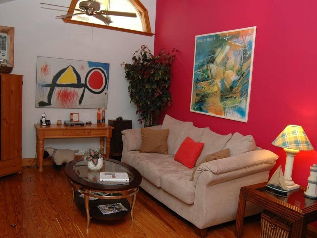 Hotéis bons e baratos em Key West: Hotel Beach Bungalow - sala de estar
