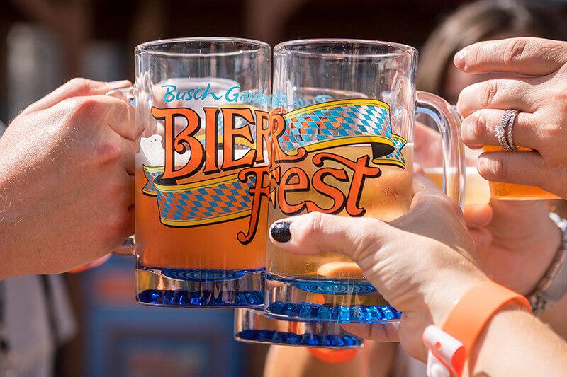 Festival Bier Fest no parque Busch Gardens: cerveja artesanal