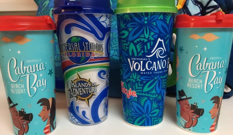 Copo com refil de bebidas na Universal Orlando