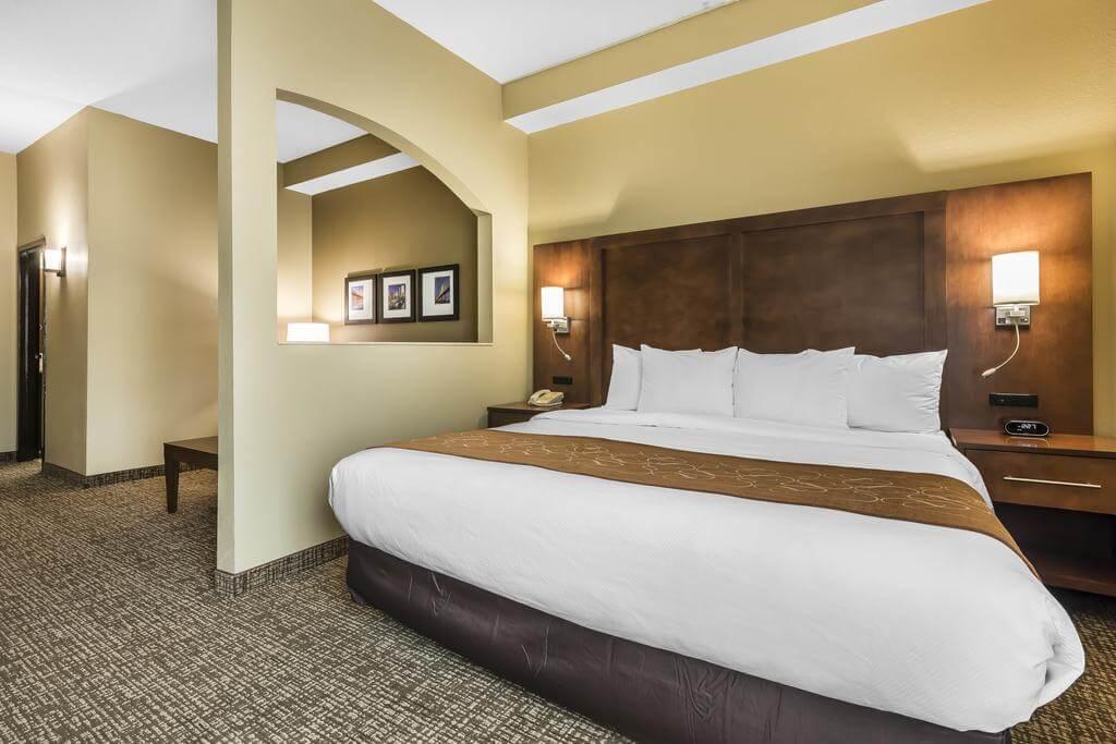 Dicas de hotéis em Jacksonville: Hotel Comfort Suites - quarto