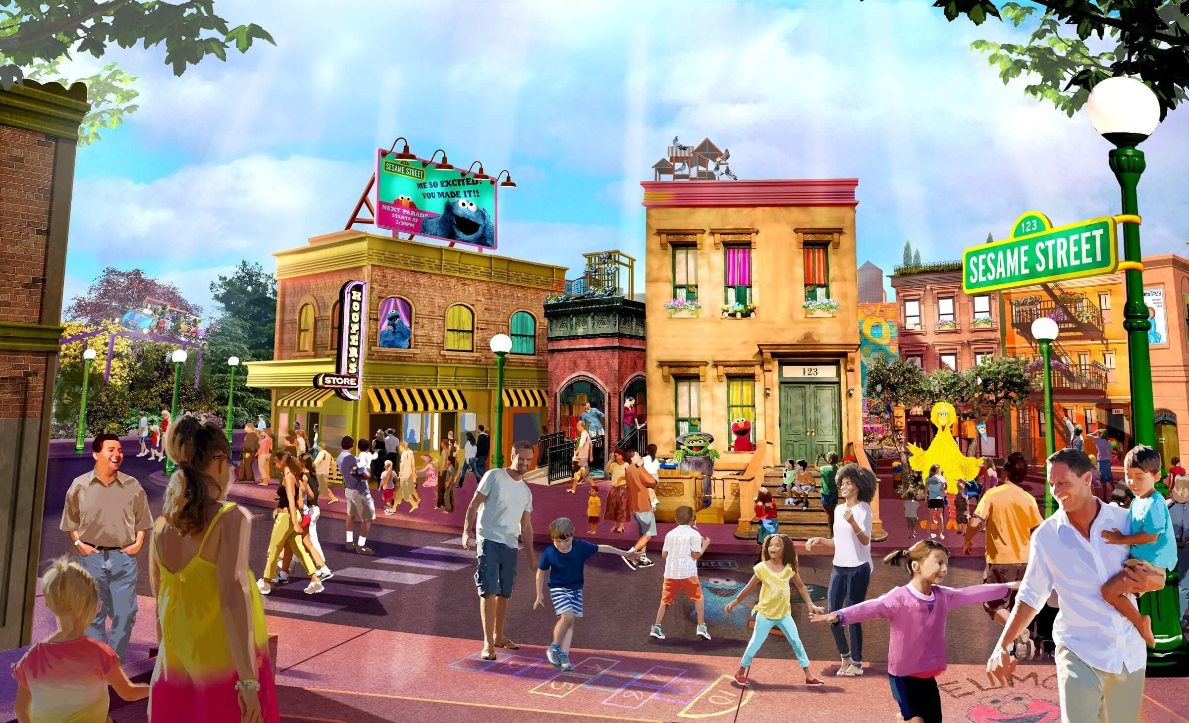 Área da Vila Sésamo no SeaWorld Orlando: Sesame Street