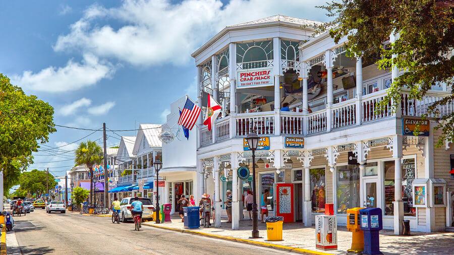 Pontos turísticos em Key West: Duval Street