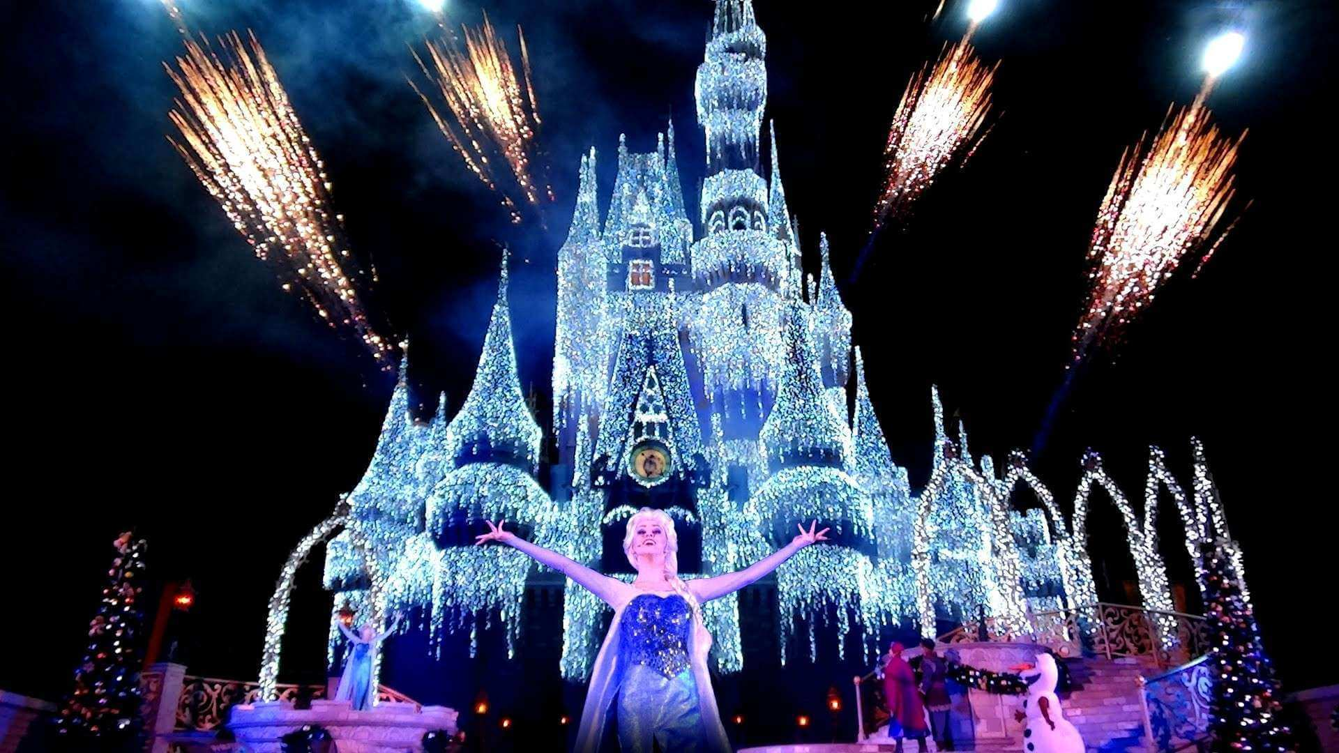 Mickey's Very Merry Christmas Party no Disney Magic Kingdom: A Frozen Holiday Wish