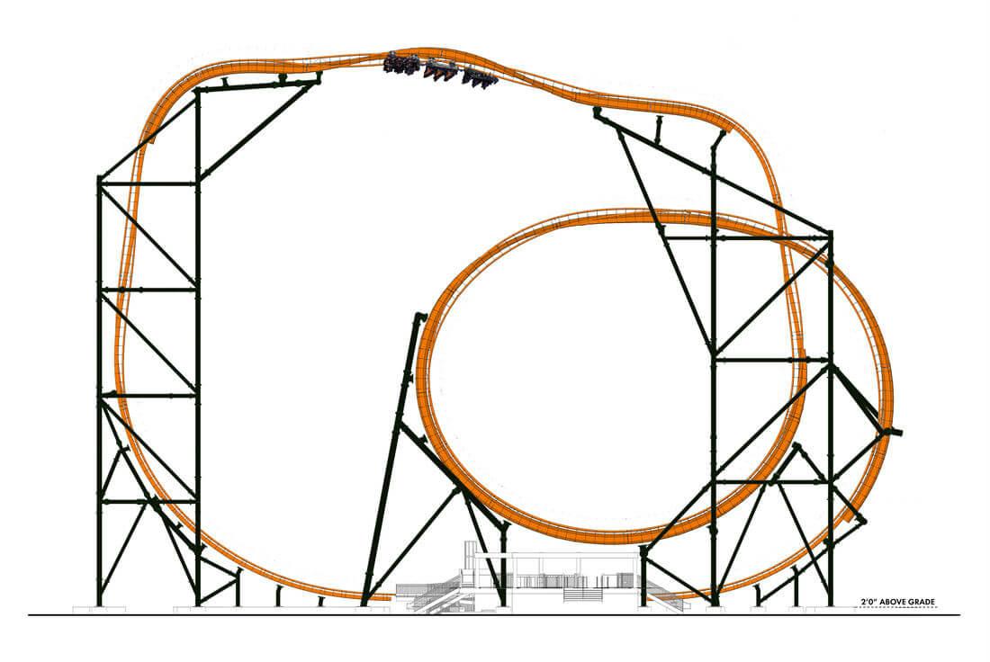 Tigris: nova montanha-russa do parque Busch Gardens: estrutura