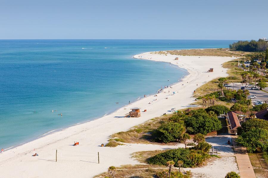 Praias em Sarasota: praia Lido Key Beach