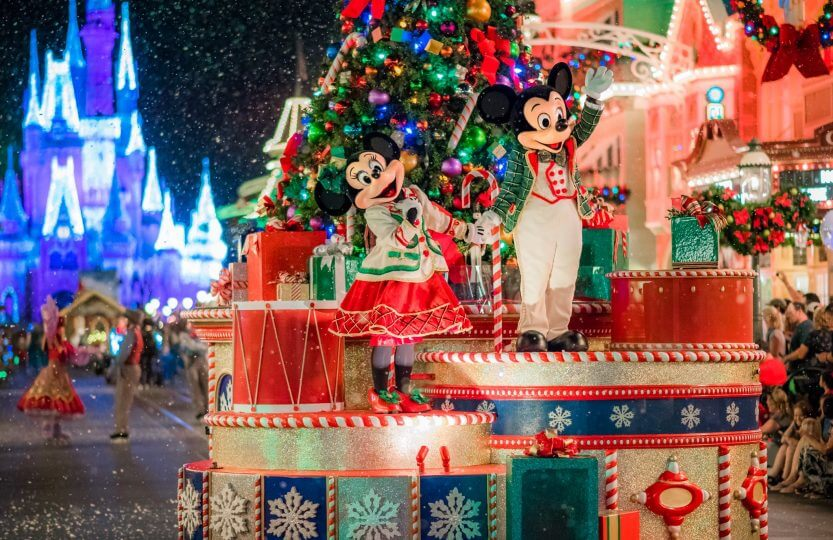 Mickey's Very Merry Christmas Party no Disney Magic Kingdom: Mickey e Minnie