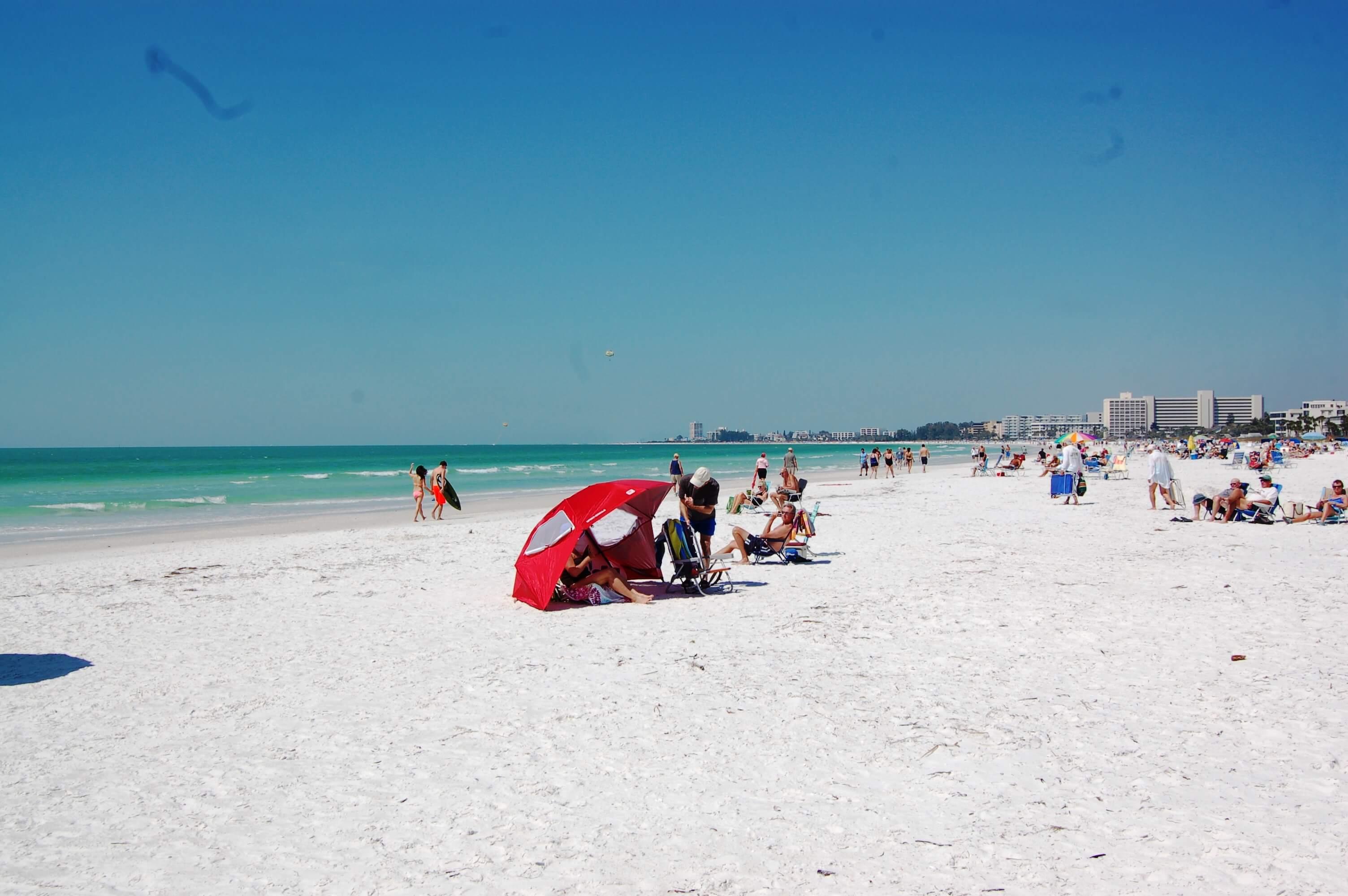 Praias em Sarasota: praia Siesta Key Beach