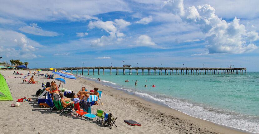 Praias em Sarasota: praia Venice Beach