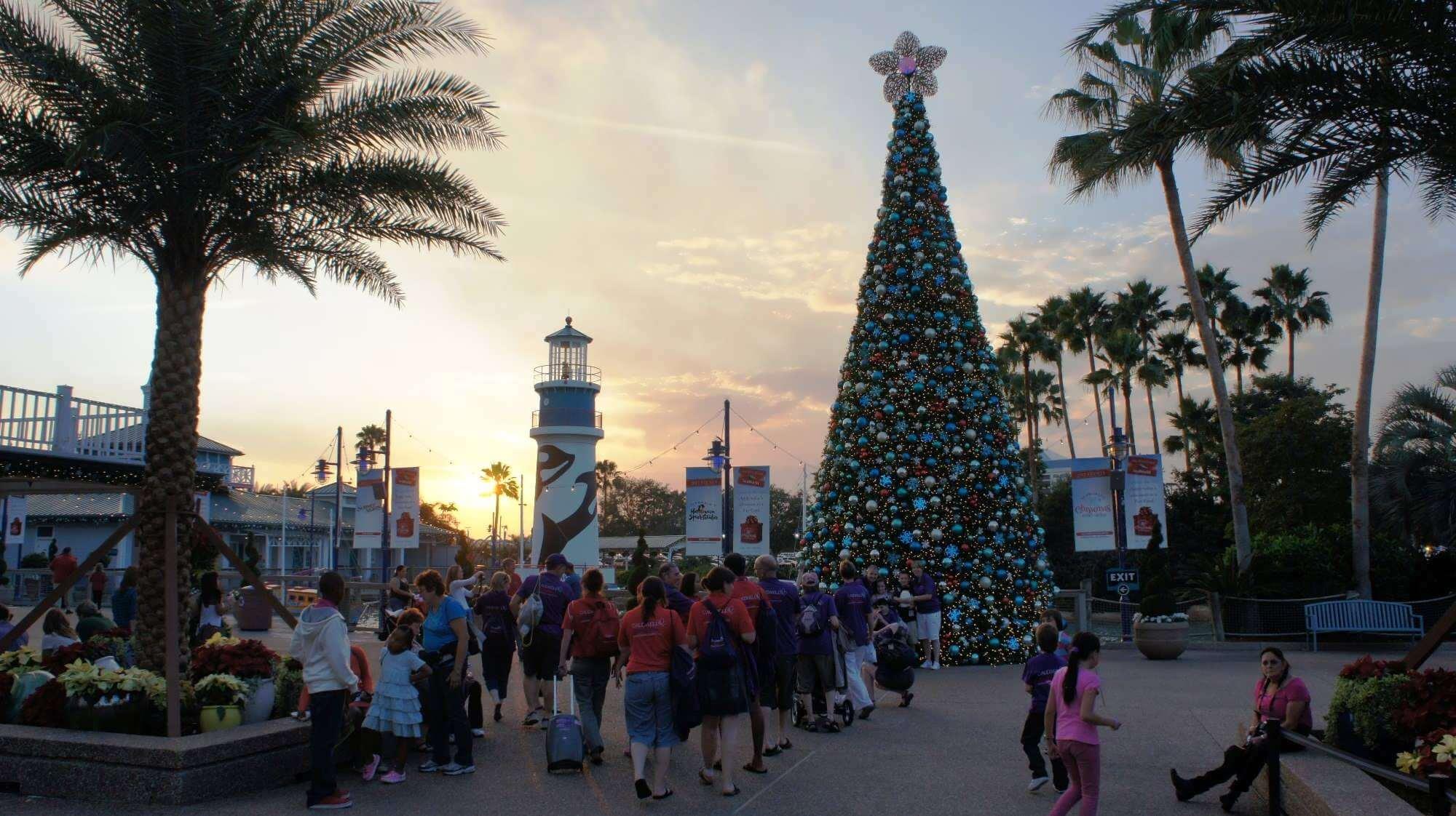 Christmas Celebration no SeaWorld Orlando: árvore de Natal