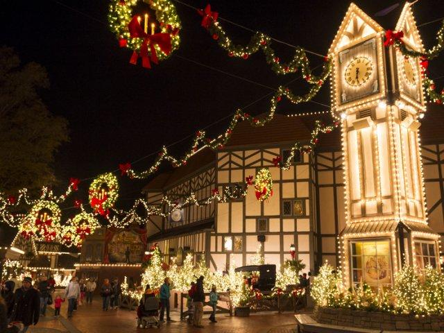 Christmas Town no parque Busch Gardens
