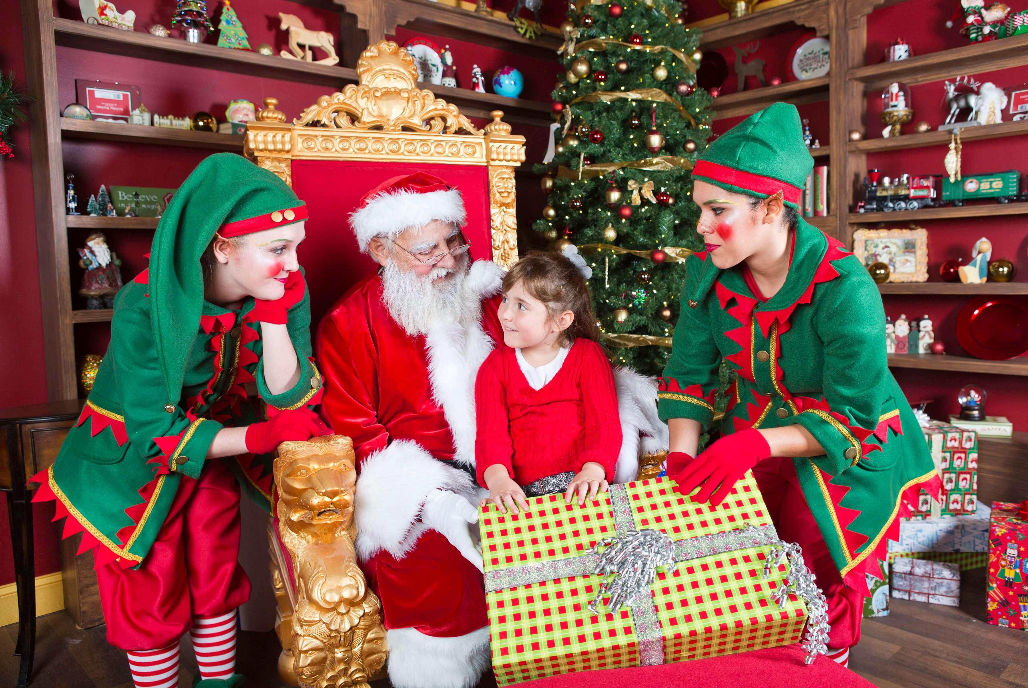 Christmas Celebration no SeaWorld Orlando: Papai Noel