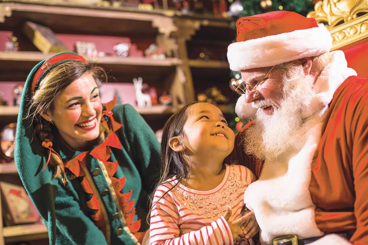 Christmas Town no parque Busch Gardens: Papai Noel