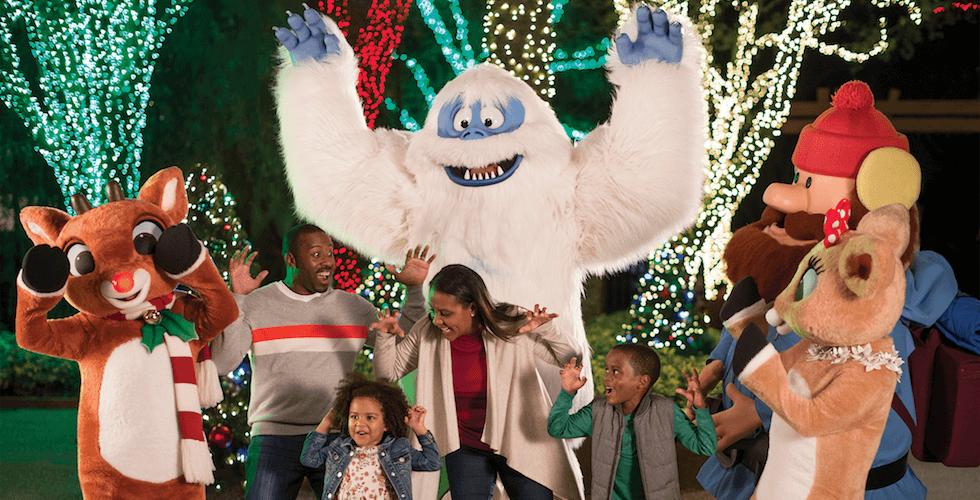 Christmas Town no parque Busch Gardens: Rudolph's Winter Wonderland