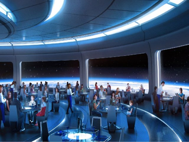 Space Restaurant no Epcot da Disney Orlando