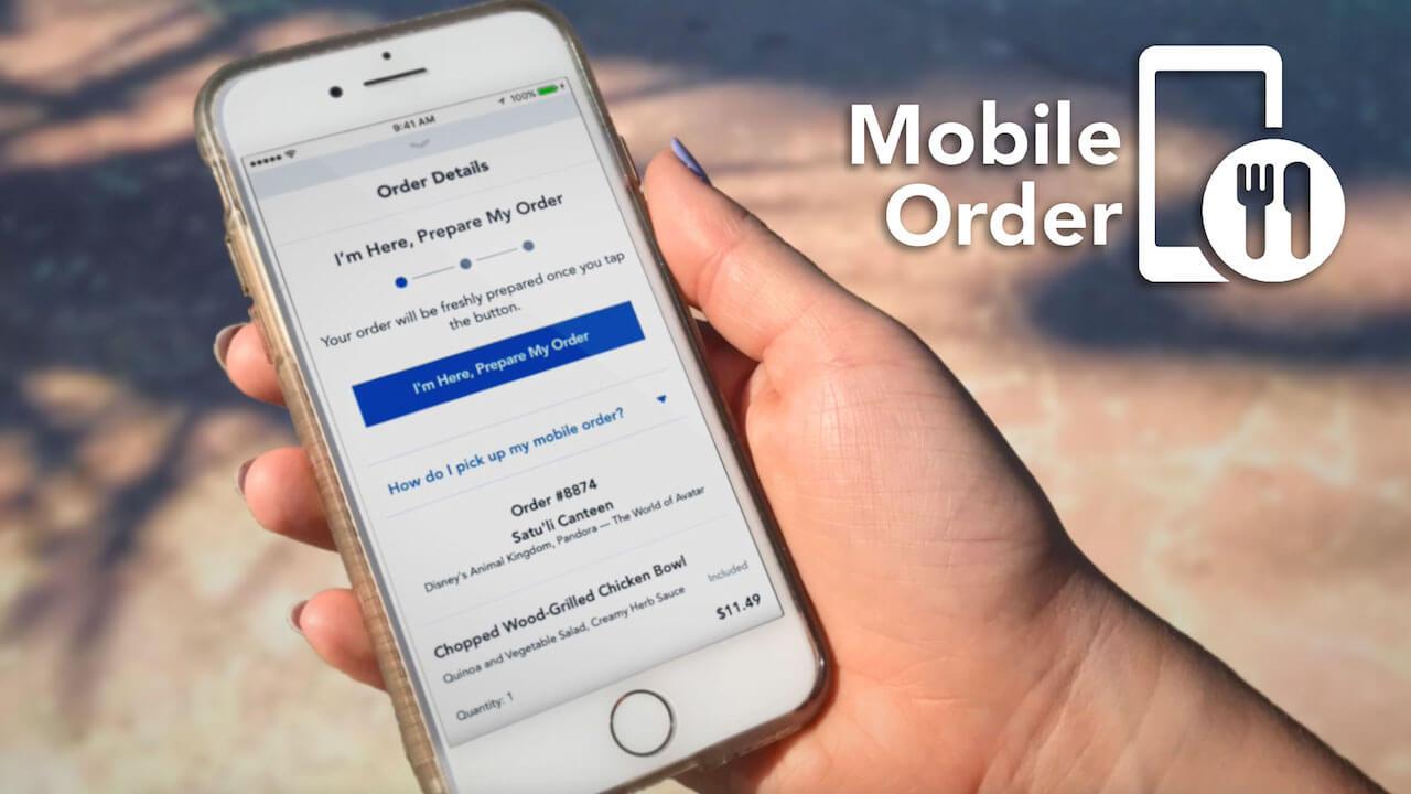 Como pedir comida pelo celular nos restaurantes da Disney Orlando: mobile order