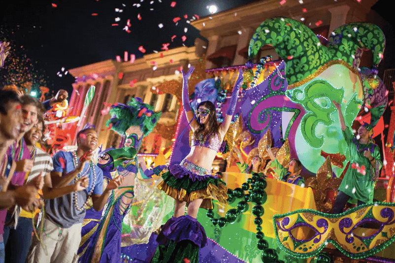 Mardi Gras na Universal Orlando em 2019: Universal Studios