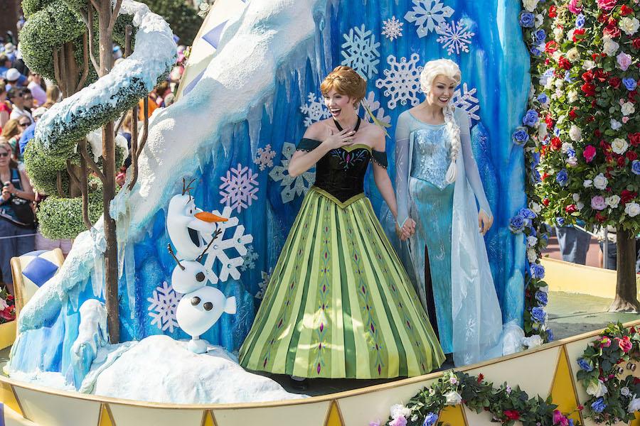 Disney Festival of Fantasy no Magic Kingdom em Orlando: Frozen