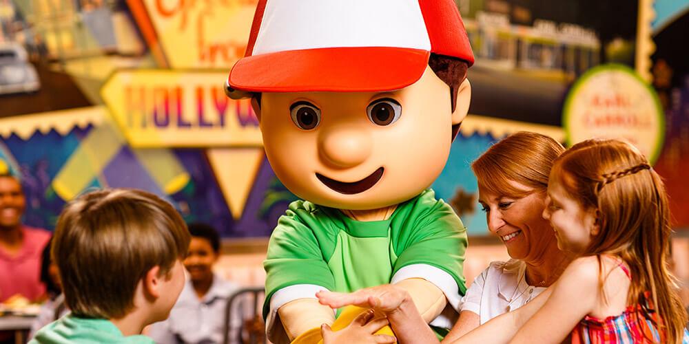 Café da manhã do Disney Junior para crianças na Disney Orlando: personagem