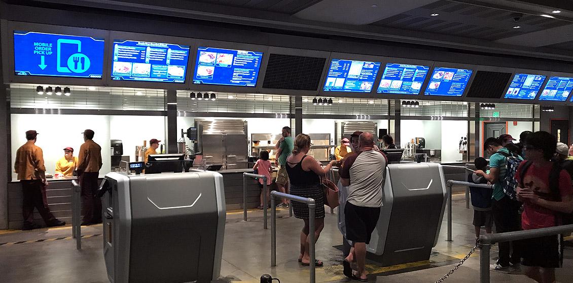 Como pedir comida pelo celular nos restaurantes da Disney Orlando: restaurante