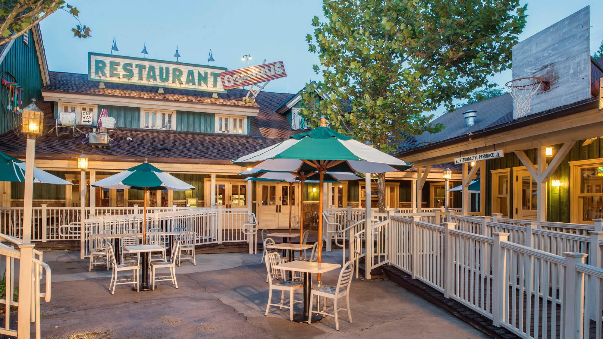 Como pedir comida pelo celular nos restaurantes da Disney Orlando: restaurante Restaurantosaurus