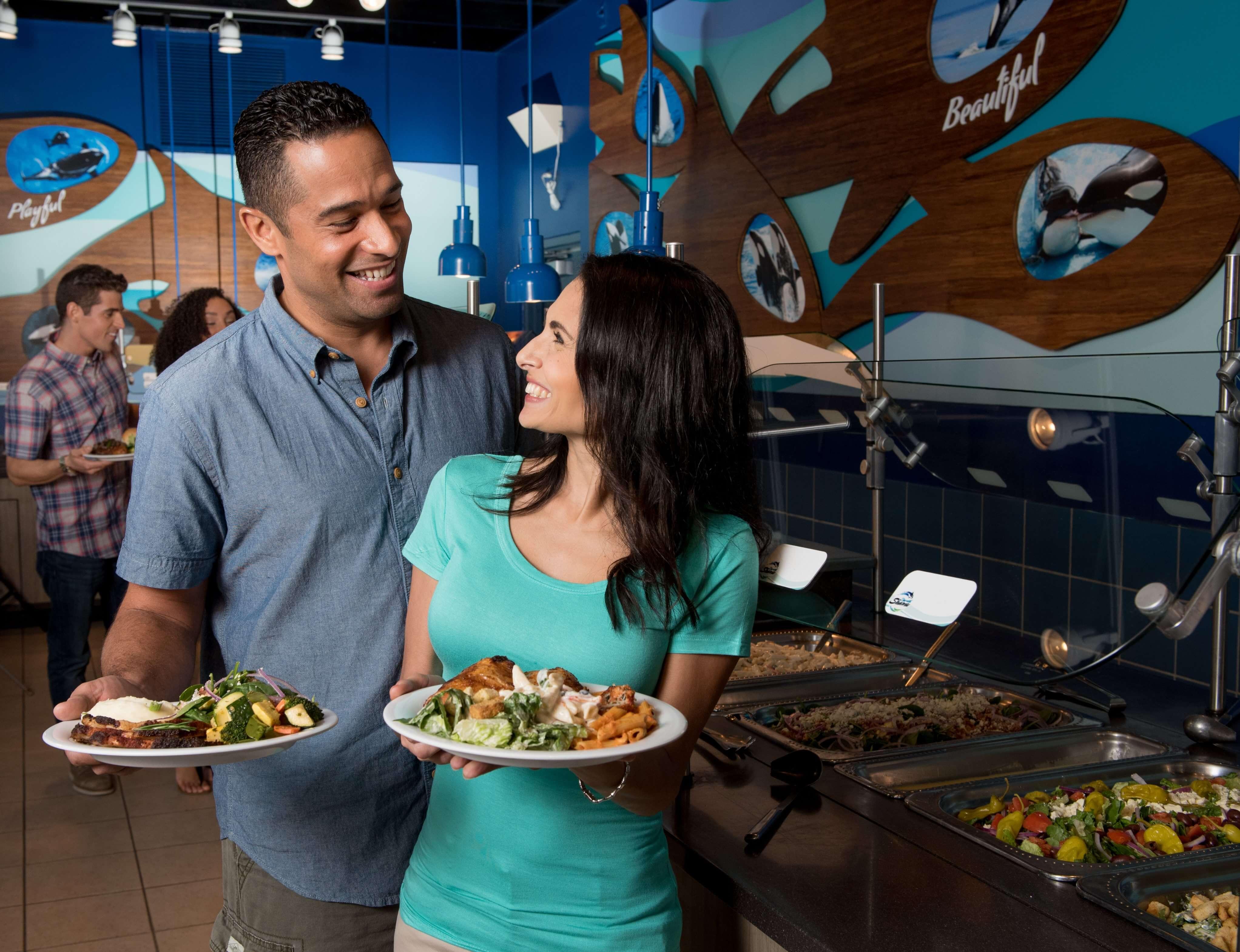 Refeição com a Shamu no SeaWorld Orlando: buffet