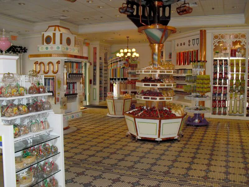 Main Street Confectionery no Magic Kingdom da Disney Orlando: interior