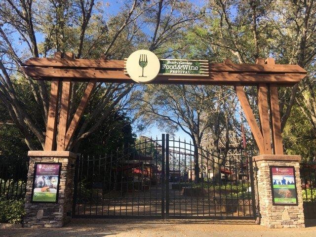 Food & Wine Festival no Busch Gardens em 2019