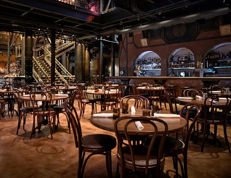 Restaurante The Edison na Disney Springs em Orlando: interior