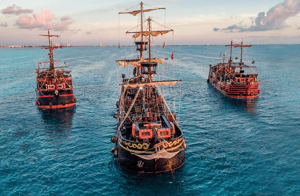 Atração com Capitão Gancho para crianças na Disney Orlando: navio pirata