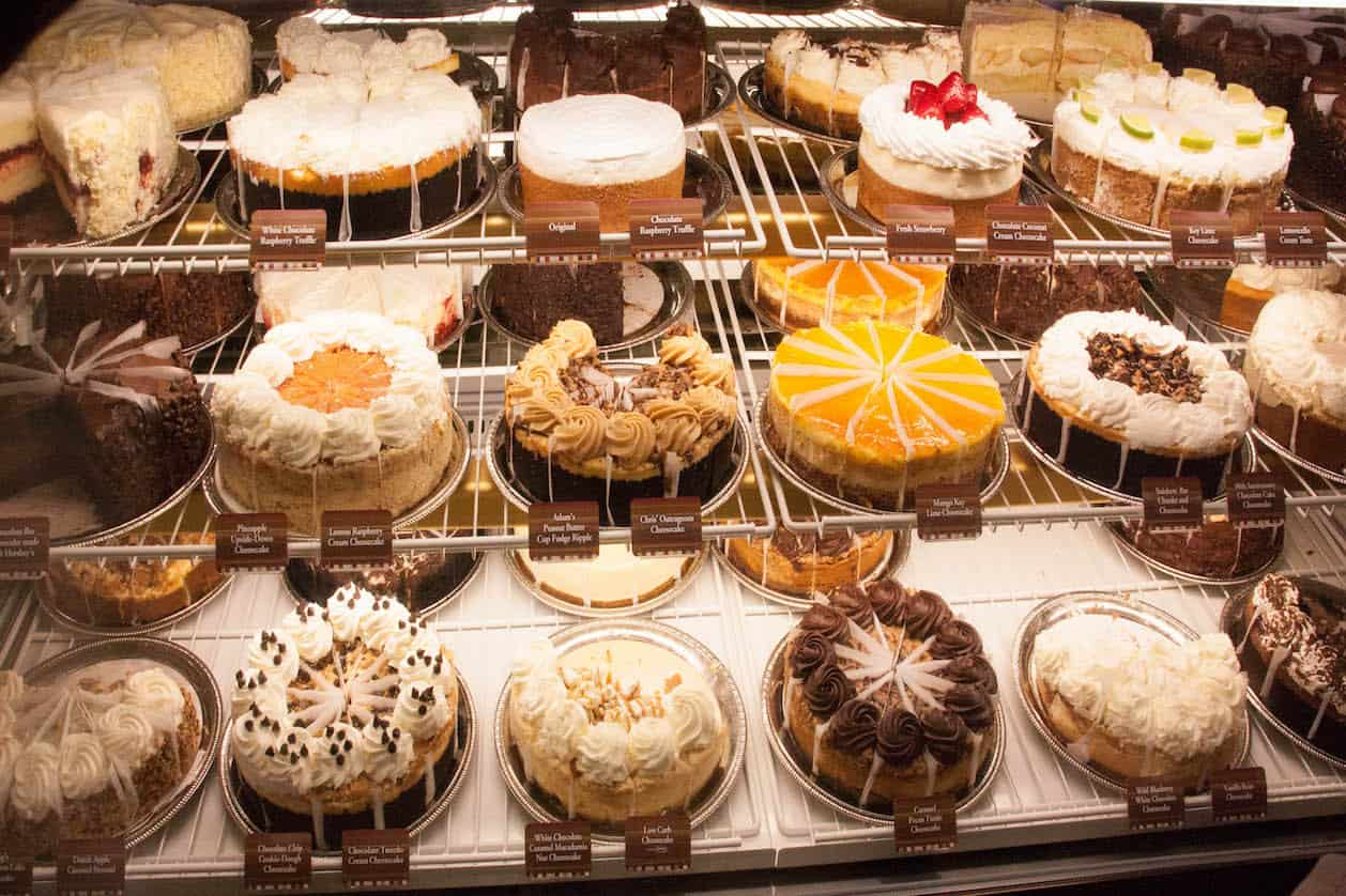 Restaurante The Cheesecake Factory em Orlando: sobremesas