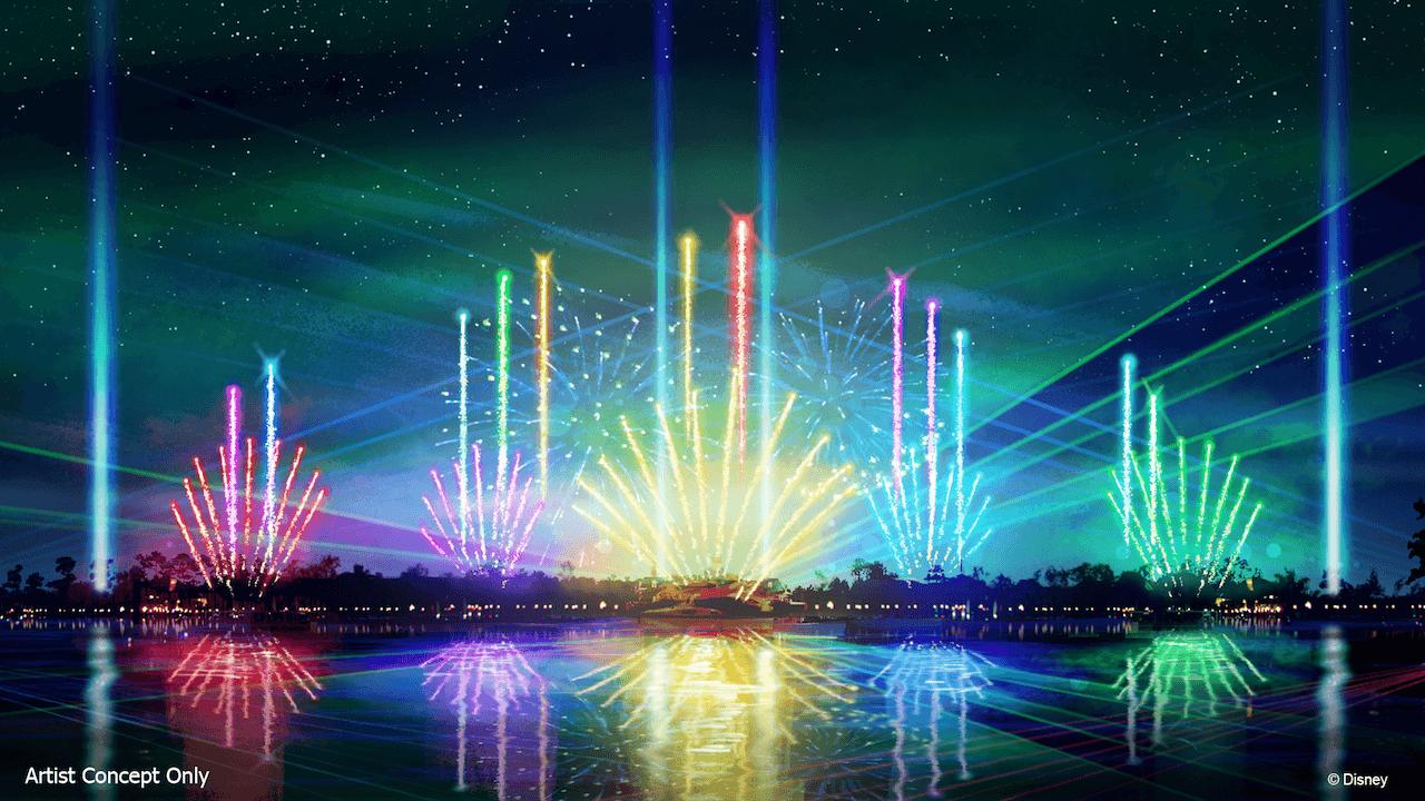 """Espetáculo """"Epcot Forever"""" no parque Epcot da Disney Orlando: espetáculo noturno"""