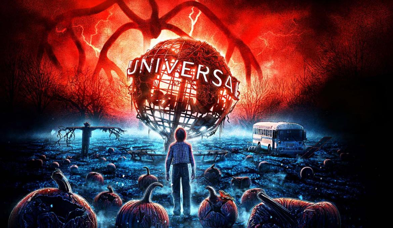 Atração de Stranger Things no Halloween da Universal Orlando em 2019